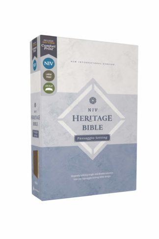 NIV Heritage Bible Passaggio Setting, Comfort Print--soft leather-look, brown