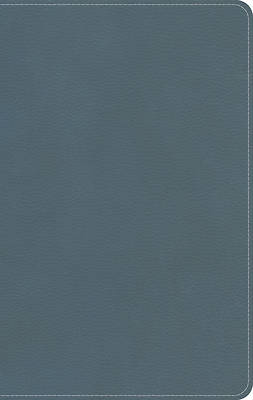 CSB Personal-Size On-The-Go Bible--soft leather-look, steel blue