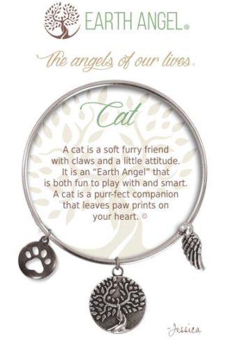 "Earth Angel Charm Bracelet ""Cat"" Antique Silver"