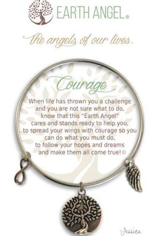 "Earth Angel Charm Bracelet ""Courage"""