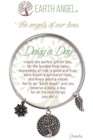 "Earth Angel Charm Bracelet ""Daisy a Day"""