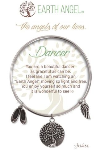 """Earth Angel Charm Bracelet """"Dancer"""" Antique Silver"""