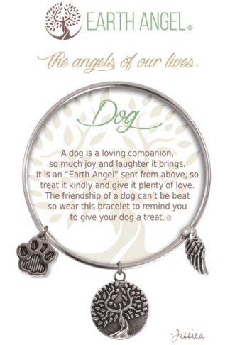 "Earth Angel Charm Bracelet ""Dog"" Antique Silver"