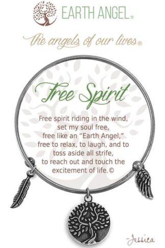 "Earth Angel Charm Bracelet ""Free Spirit"""