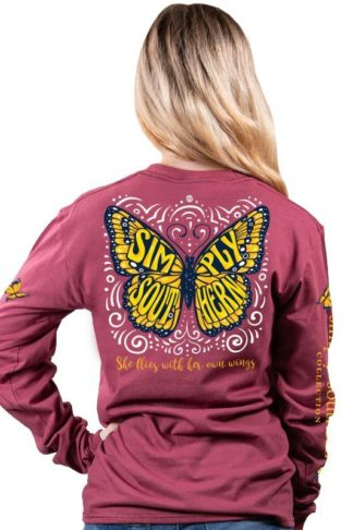 Simply Southern LS Butterfly T-shirt