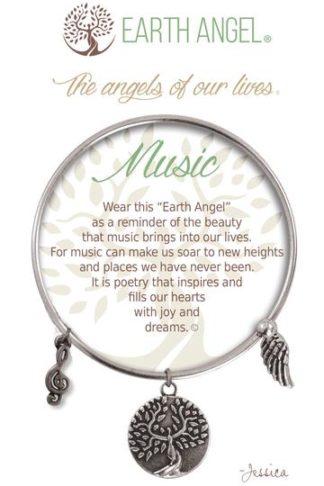 "Earth Angel Charm Bracelet ""Music"""