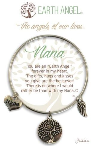 "Earth Angel Charm Bracelet ""Nana"" Antique Silver"