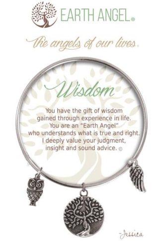 "Earth Angels Charm Bracelet ""Wisdom"" Antique Silver"